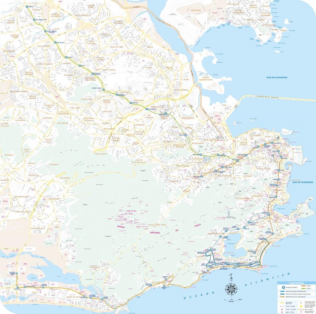 Rio De Janeiro Map - Detailed City And Metro Maps Of Rio De Janeiro - Printable Map Of Rio De Janeiro