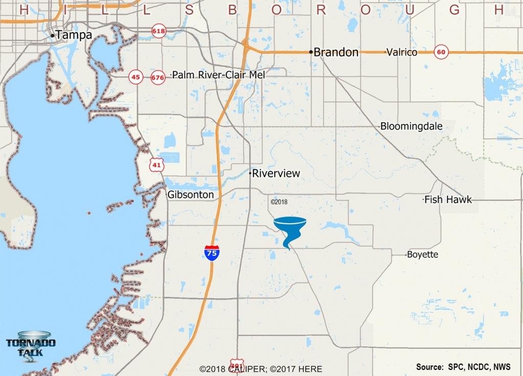 Riverview, Fl F2 Tornado – December 7, 1996 – Tornado Talk - Riverview Florida Map