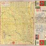 Road Map N. & S. Dakota.   David Rumsey Historical Map Collection   Rand Mcnally Texas Road Map