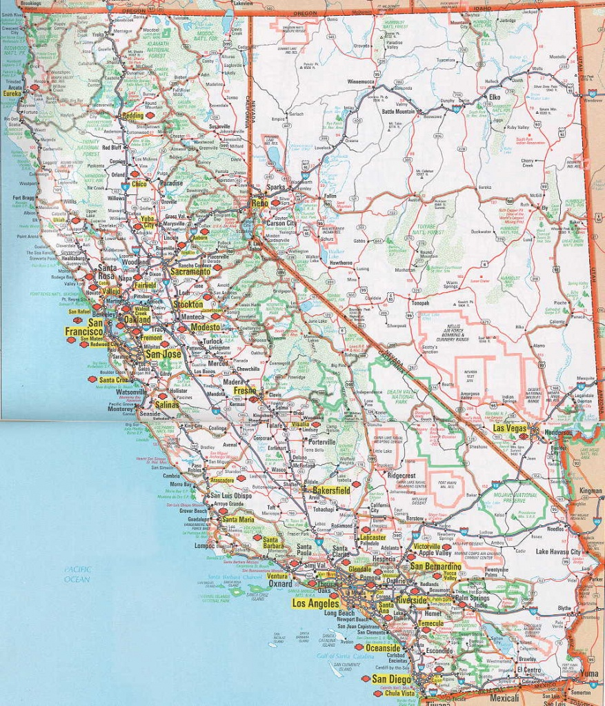 Road Map Of Ca And Travel Information | Download Free Road Map Of Ca - Printable Road Map Of Southern California