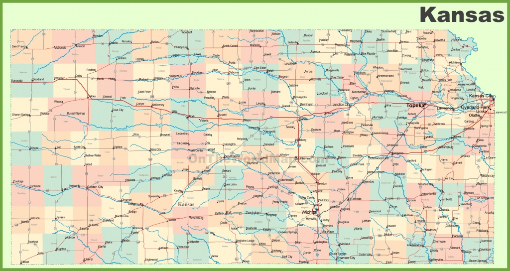Road Map Of Kansas With Cities - Printable Kansas Map With Cities