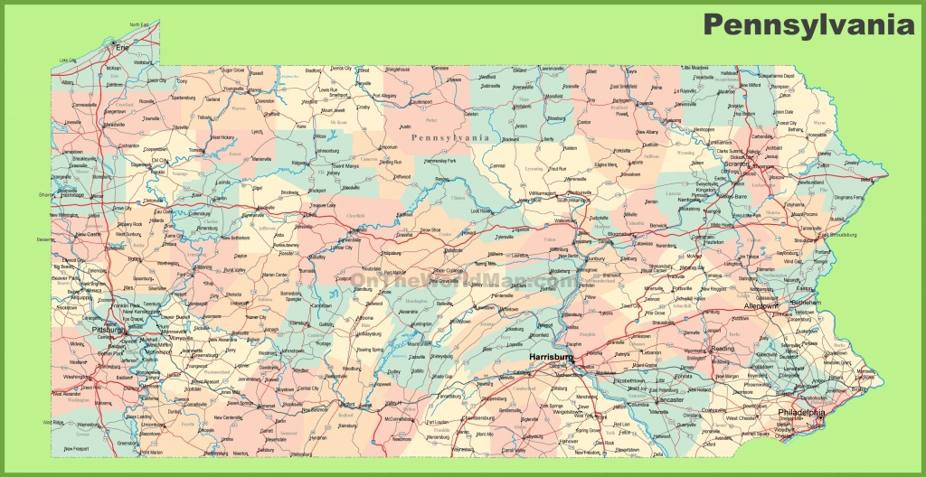 Road Map Of Pennsylvania With Cities - Printable Map Of Pennsylvania
