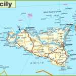 Road Map Of Sicily With Cities And Towns   Printable Map Of Sicily