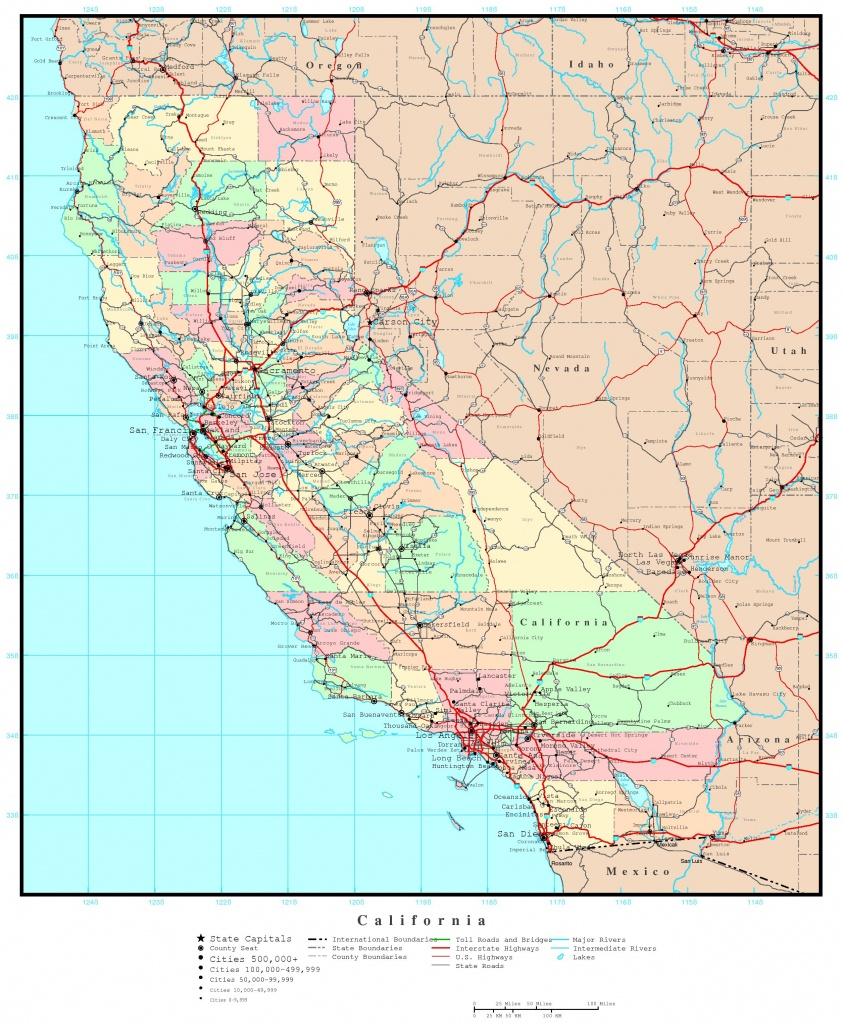 Road Map Of Southern California And Travel Information   Download - Southern California Road Map Pdf
