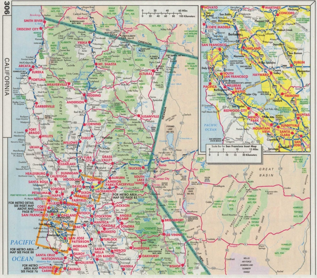 Road Map Of Southern Oregon And Northern California Fresh Index Of - Driving Map Of Northern California