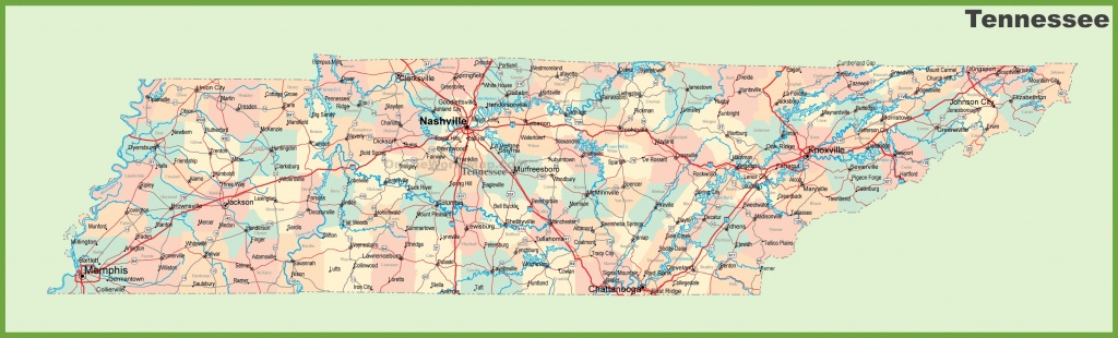 Road Map Of Tennessee With Cities - Printable Map Of Tennessee With Cities