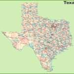 Road Map Of Texas With Cities   Texas Road Map 2017
