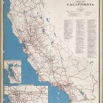 Road Map Of The State Of California, 1955.   David Rumsey Historical   California Road Atlas Map