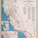 Road Map Of The State Of California, July, 1940.   David Rumsey   Buy Map Of California