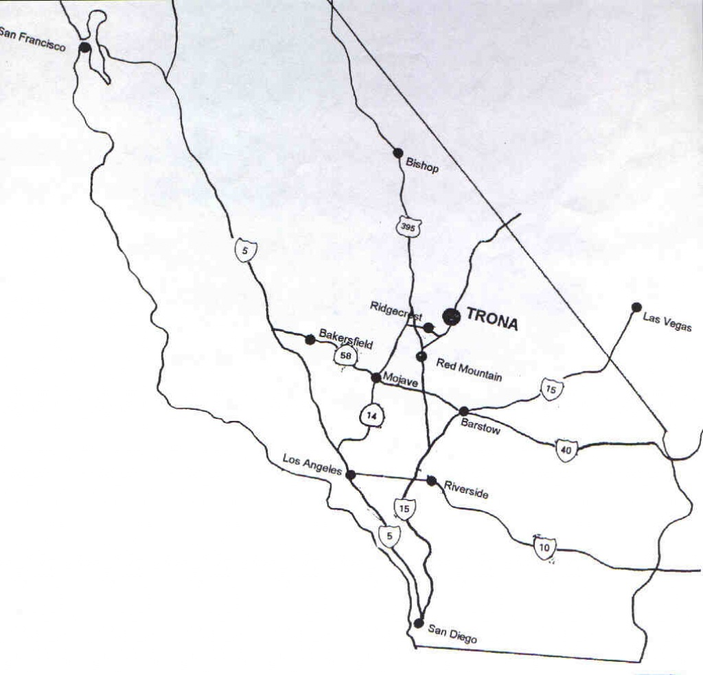Road Map To Trona - Off Road Maps California