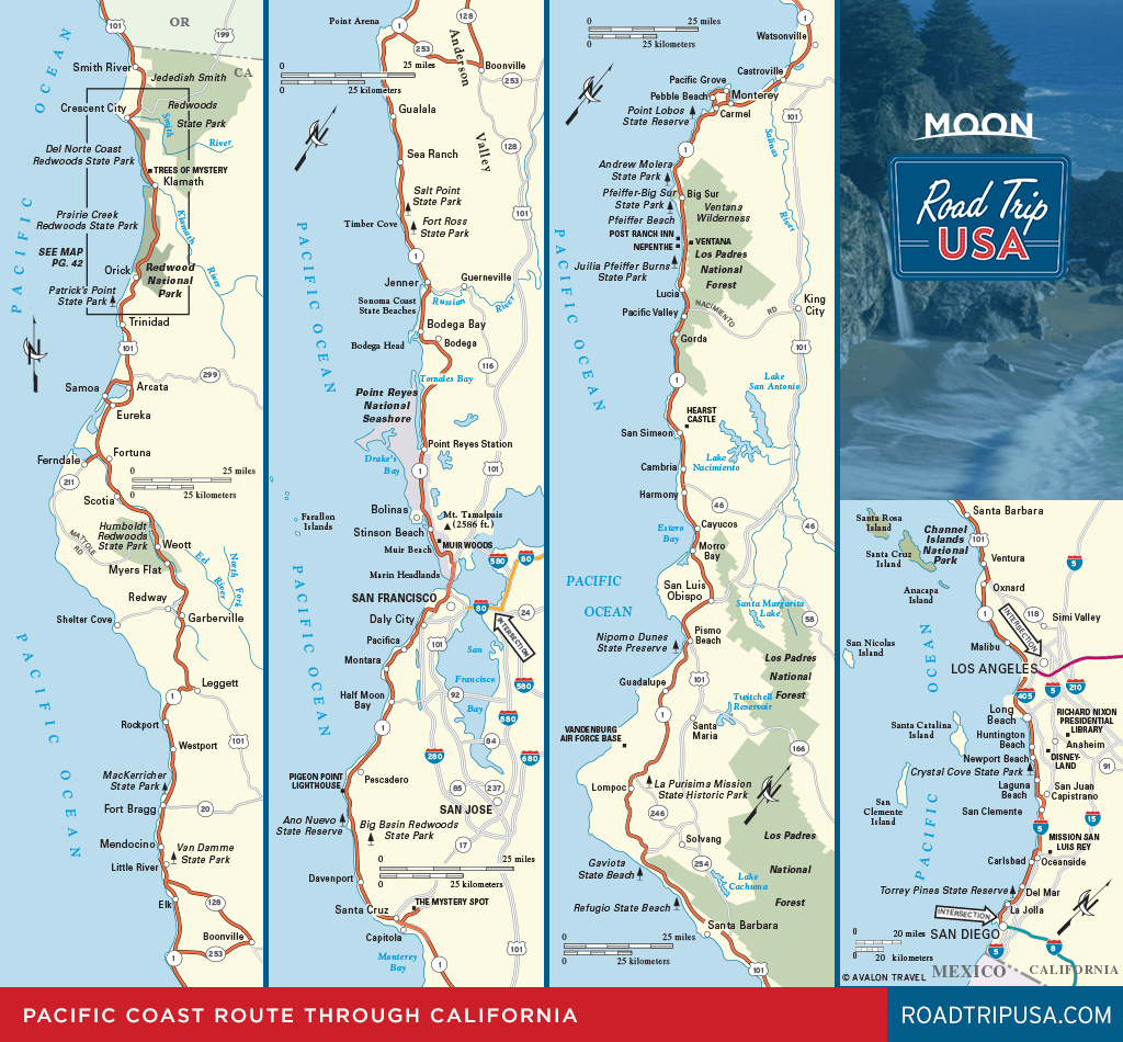 Road Trip California On The Classic Pacific Coast Route | Road Trip Usa - California Coastal Highway Map