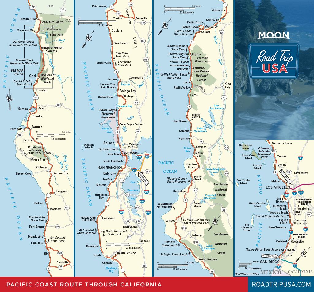 Road Trip California On The Classic Pacific Coast Route   Road Trip Usa - Detailed Map Of California Coastline