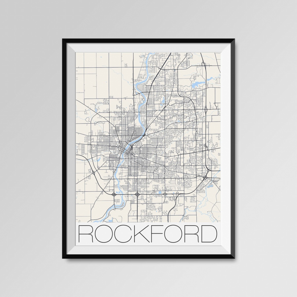 Rockford Illinois Map Rockford City Map Print Rockford Map | Etsy - Printable Map Of Rockford Il