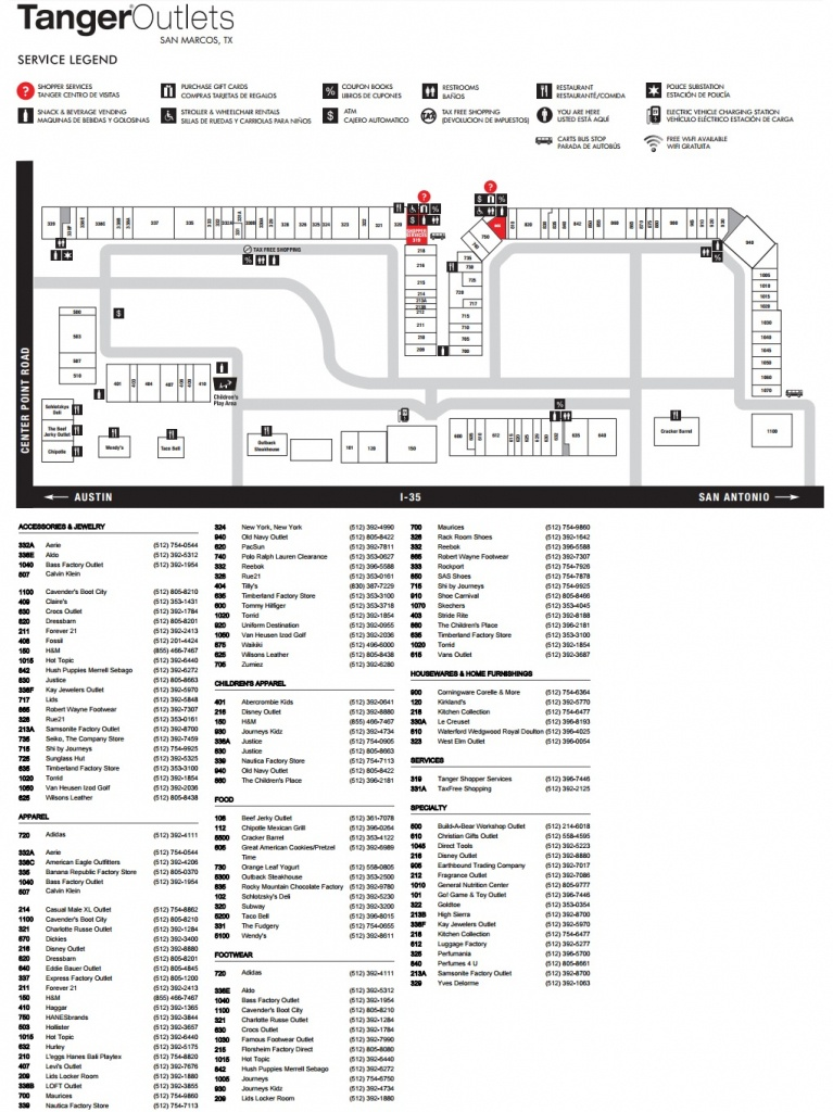 Rockport Located In San Marcos, Texas Tx (Tanger Outlets San Marcos - Tanger Outlet Texas City Map