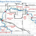 Rogue River   Schrems West Michigan Trout Unlimited   Michigan River Map Printable