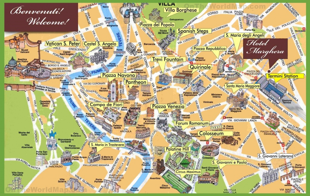 Rome Maps | Italy | Maps Of Rome (Roma) - Printable Map Of Rome Tourist Attractions