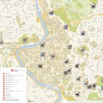 Rome Printable Tourist Map | Sygic Travel   Printable Map Of Rome