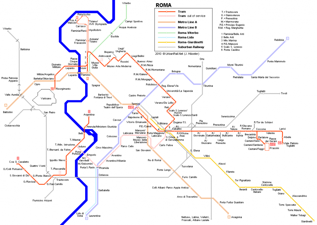 Rome Subway Map For Download | Metro In Rome - High-Resolution Map - Printable Rome Metro Map