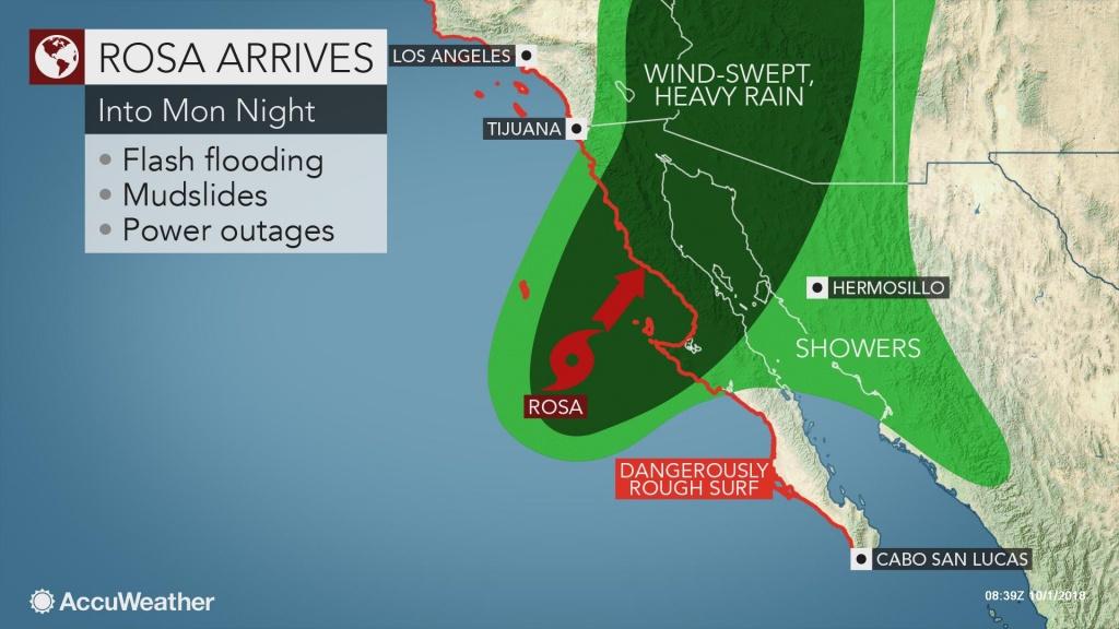 Rosa To Slam Northern Baja California, Mexico Into Monday Night - Northern California Radar Map