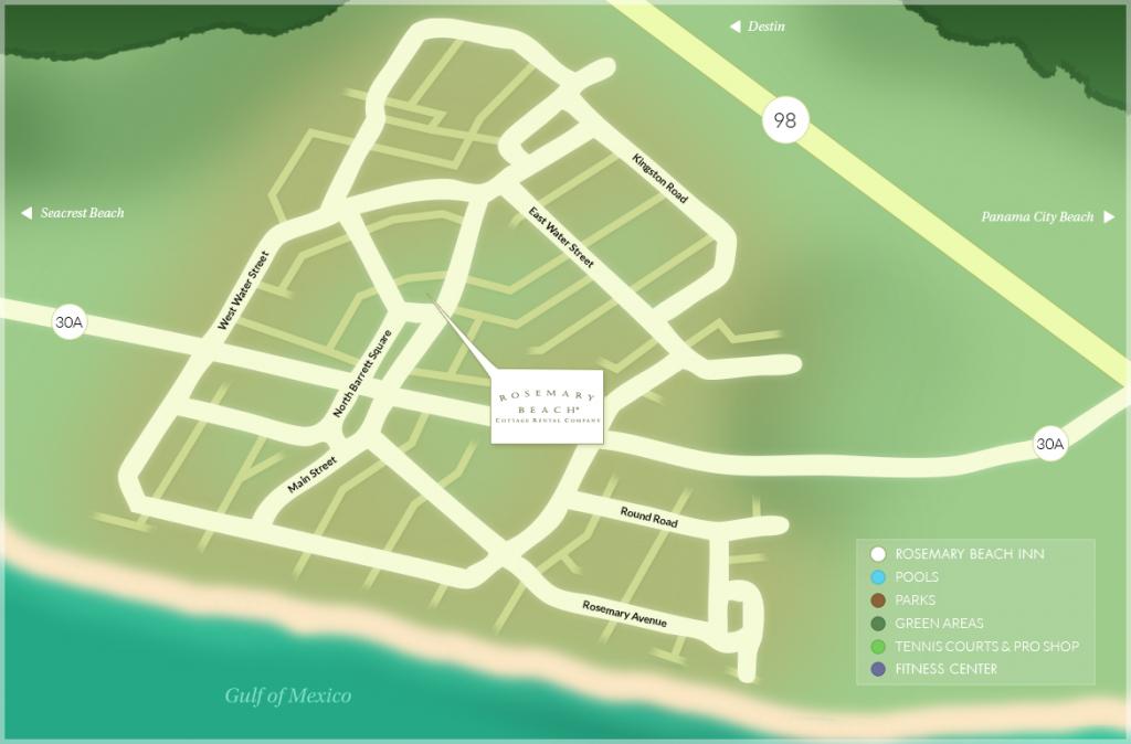 Rosemary Beach® Community Map - Rosemary Beach Florida Map