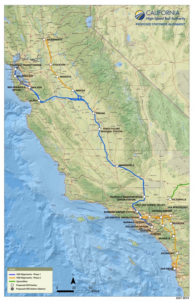 Route Of California High-Speed Rail - Wikipedia - California High Speed Rail Map