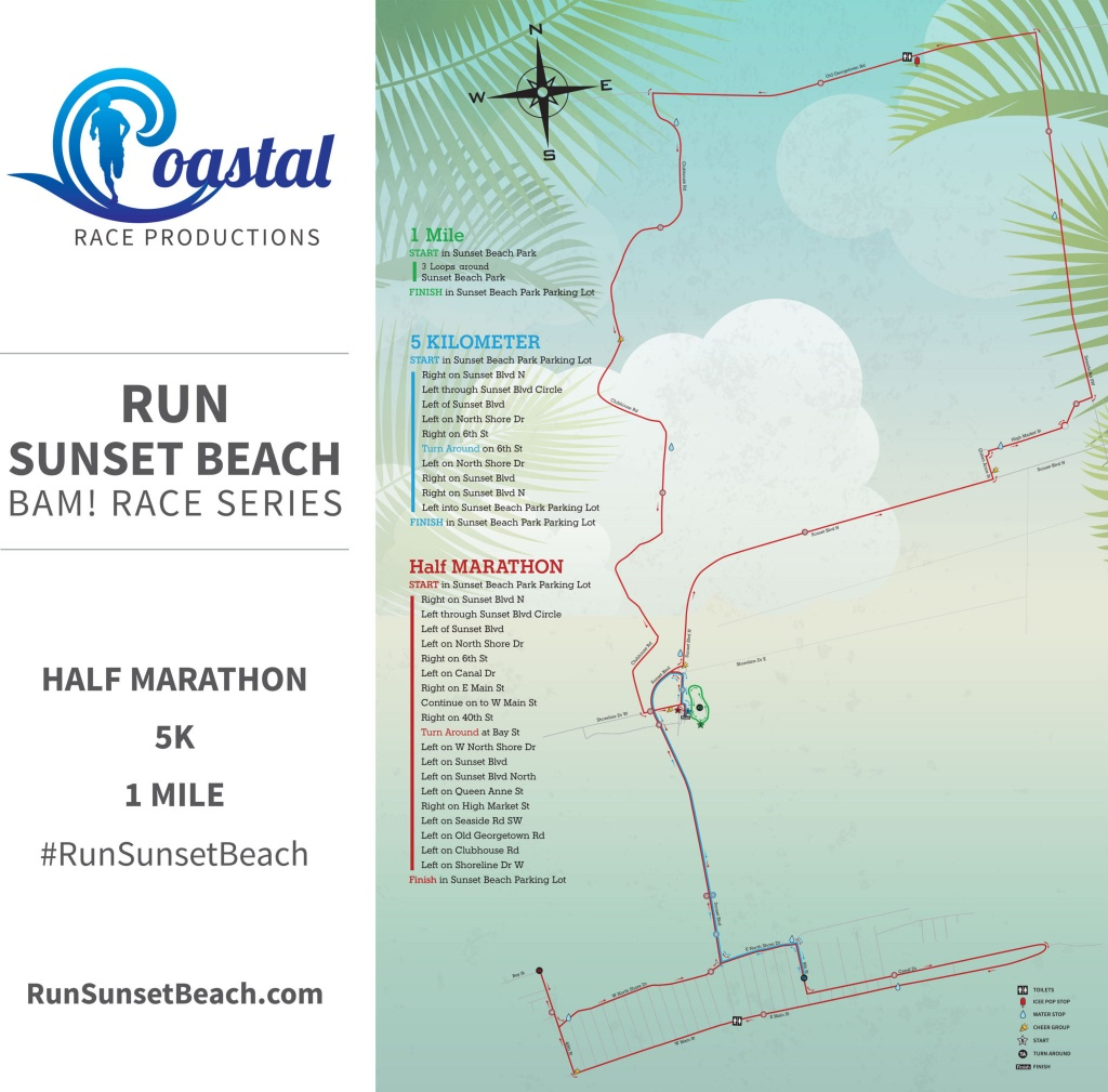 Run Sunset Beach 2020 | Coastal Race Productions - Printable Map Of Ocean Isle Beach Nc