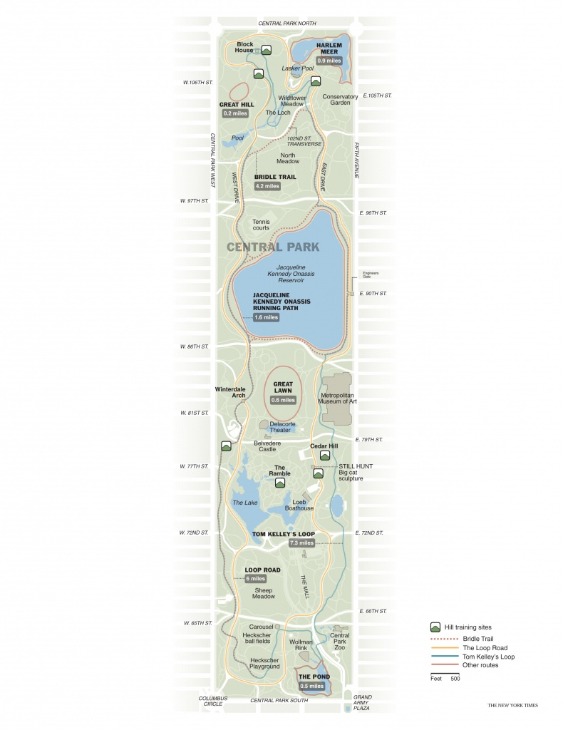 Running In Central Park   Free Toursfoot - Printable Map Of Central Park Nyc