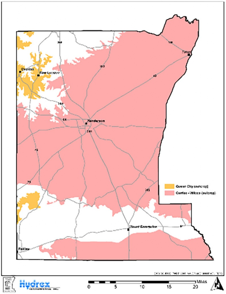 Rusk County Groundwater Geology | Rusk County Groundwater - Rusk County Texas Map