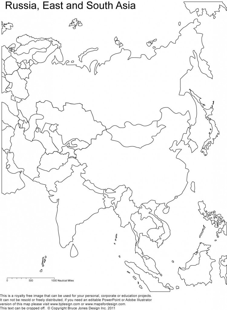 Russia And Asia, Blank Printable Map, Royalty Free | Geography | Map - Blank Map Of Asia Printable