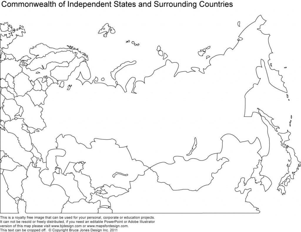 Russia, Asia, Central Asia Printable Blank Maps, Royalty Free   Maps - Blank Russia Map Printable
