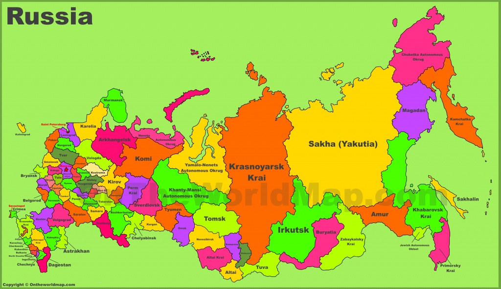 Russia Maps   Maps Of Russia (Russian Federation) - Free Printable Map Of Russia