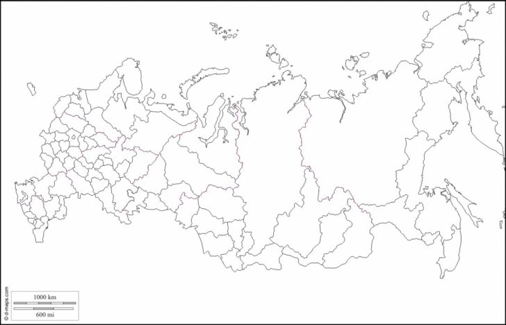 Blank Russia Map Printable