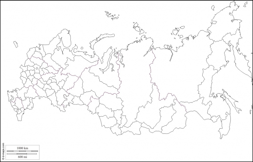 Russie Large Map With Russia Map Black And White 13 Russia Blank Map - Blank Russia Map Printable