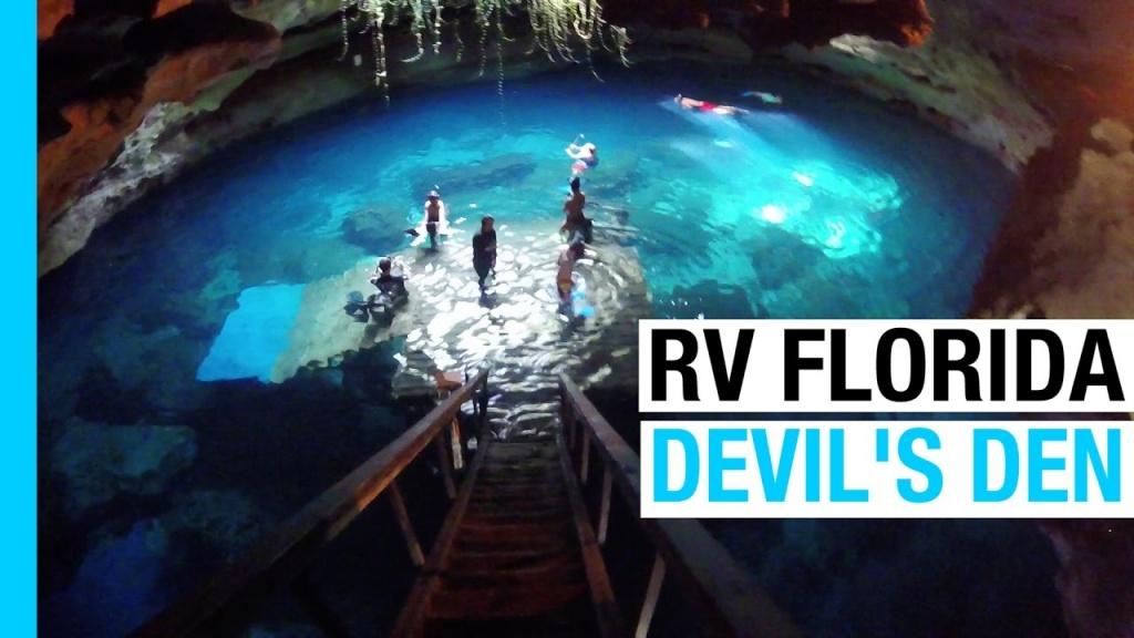 Rv Florida - Devils Den Spring & Destin Beach (Ep 29 Rv America - Devil's Den Florida Map