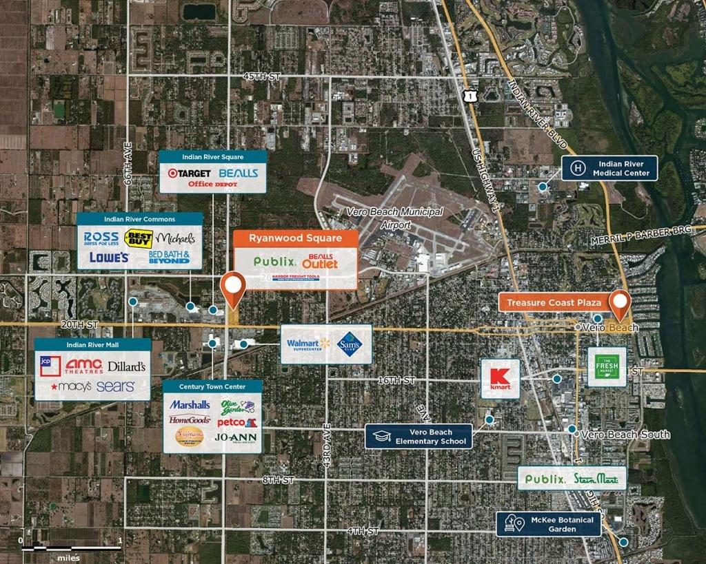 Ryanwood Square, Vero Beach, Fl 32966 – Retail Space | Regency Centers - Map Of Vero Beach Florida Area