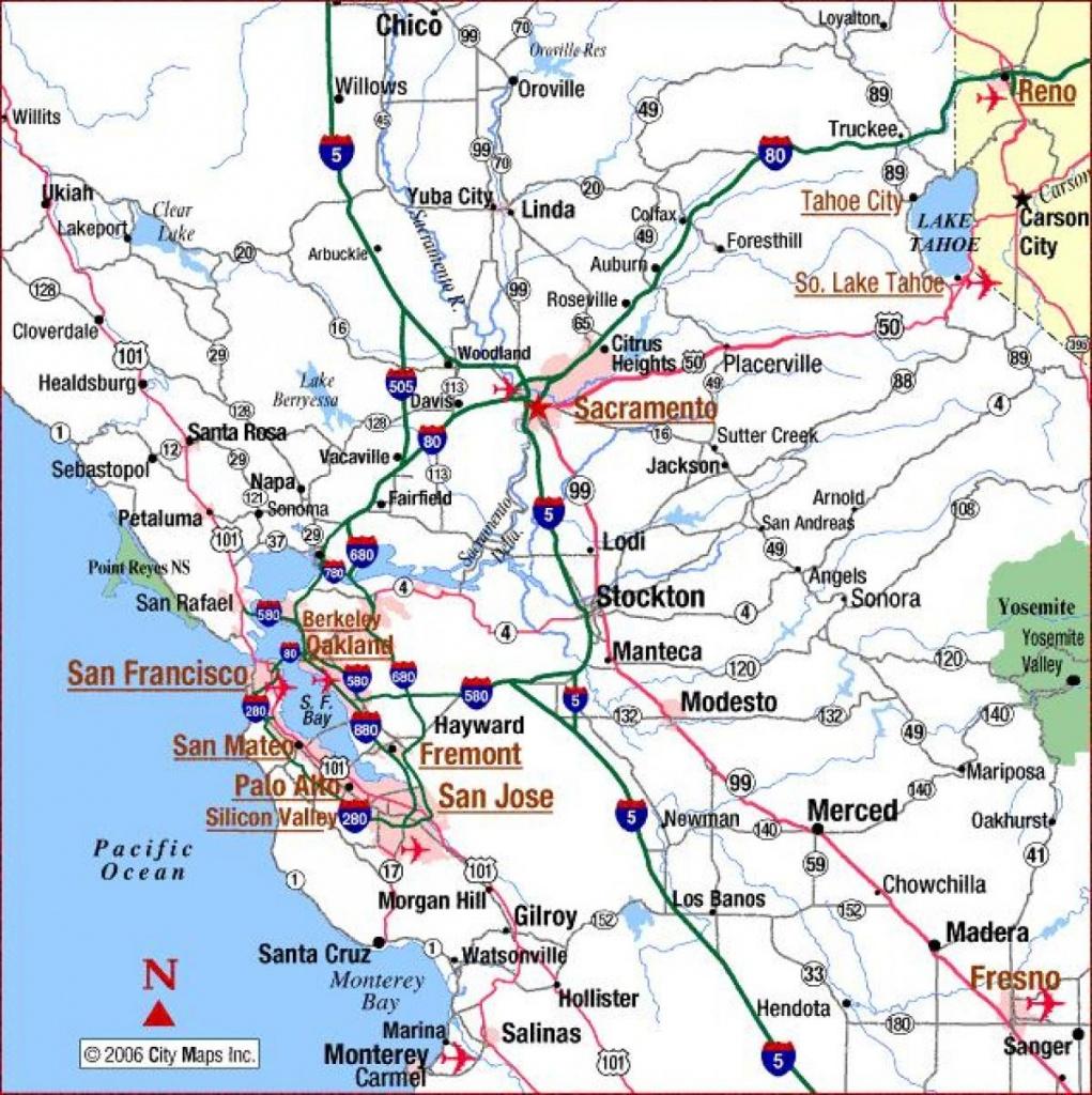 Sacramento California Map - Map Of Sacramento California (California - Map To Sacramento California