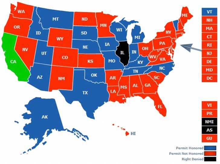 Florida Ccw Reciprocity Map