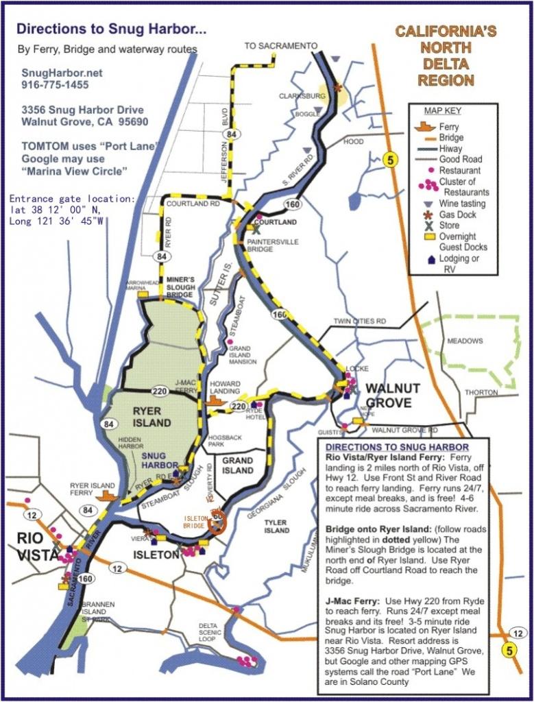 Sacramento Delta Map Throughout Walnut California - Touran - Walnut California Map