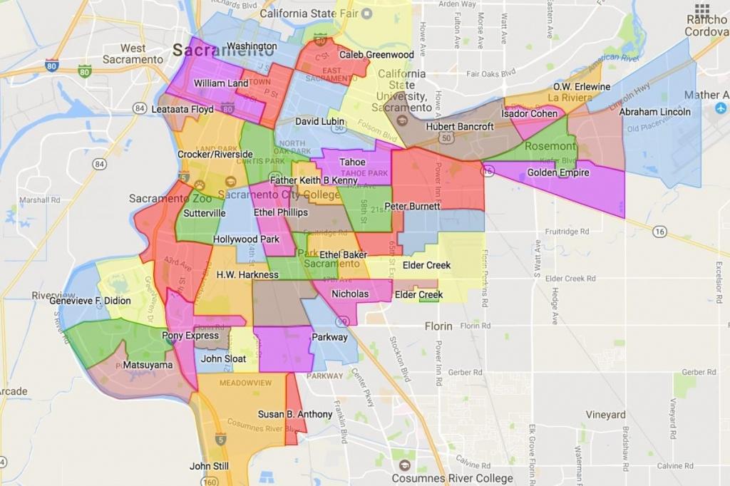 Sacramento Zip Code Map – Sacramento Area Zip Code Map (California - Printable Area Code Map