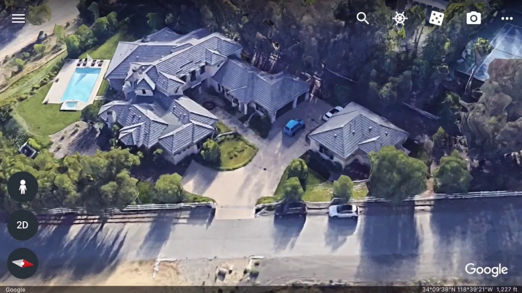 Salomondrin's House In Calabasas Found On Google Earth-(Address - Google Maps Calabasas California