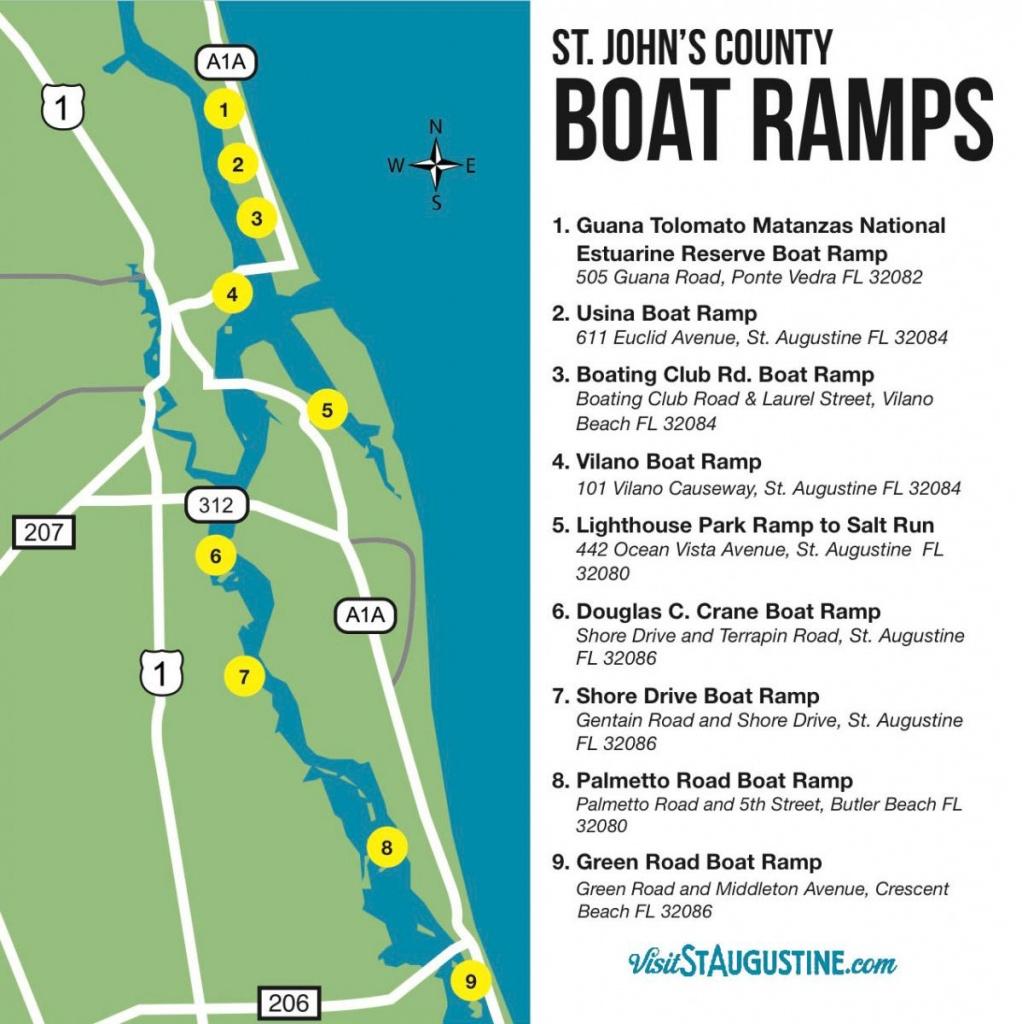 Saltwater & Freshwater Fishing In St. Augustine, Fl - St Augustine Florida Map