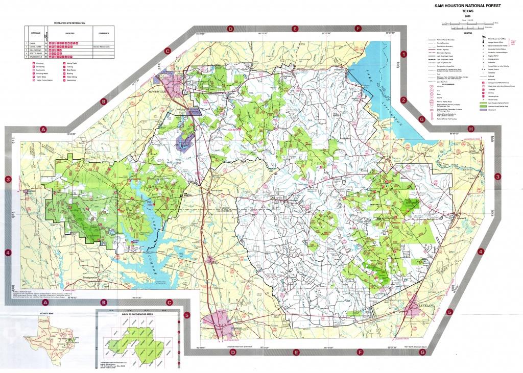 Sam Houston National Forest Map - New Waverly Texas • Mappery - Texas National Forest Hunting Maps