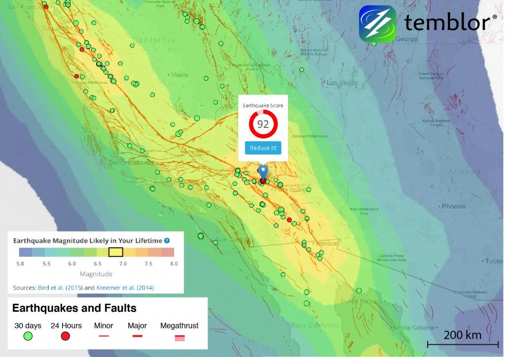 San Andreas Fault Zone Earthquake Rattles Southern California - California Earthquake Map