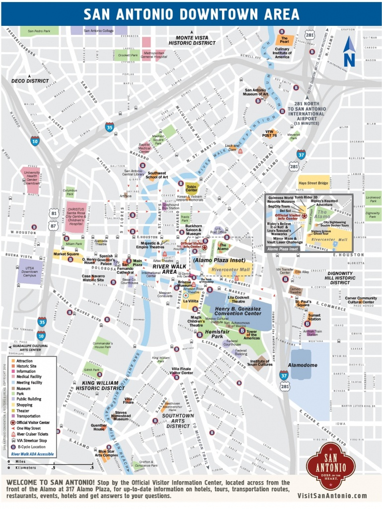 San Antonio Downtown Map - Printable Map Of San Antonio