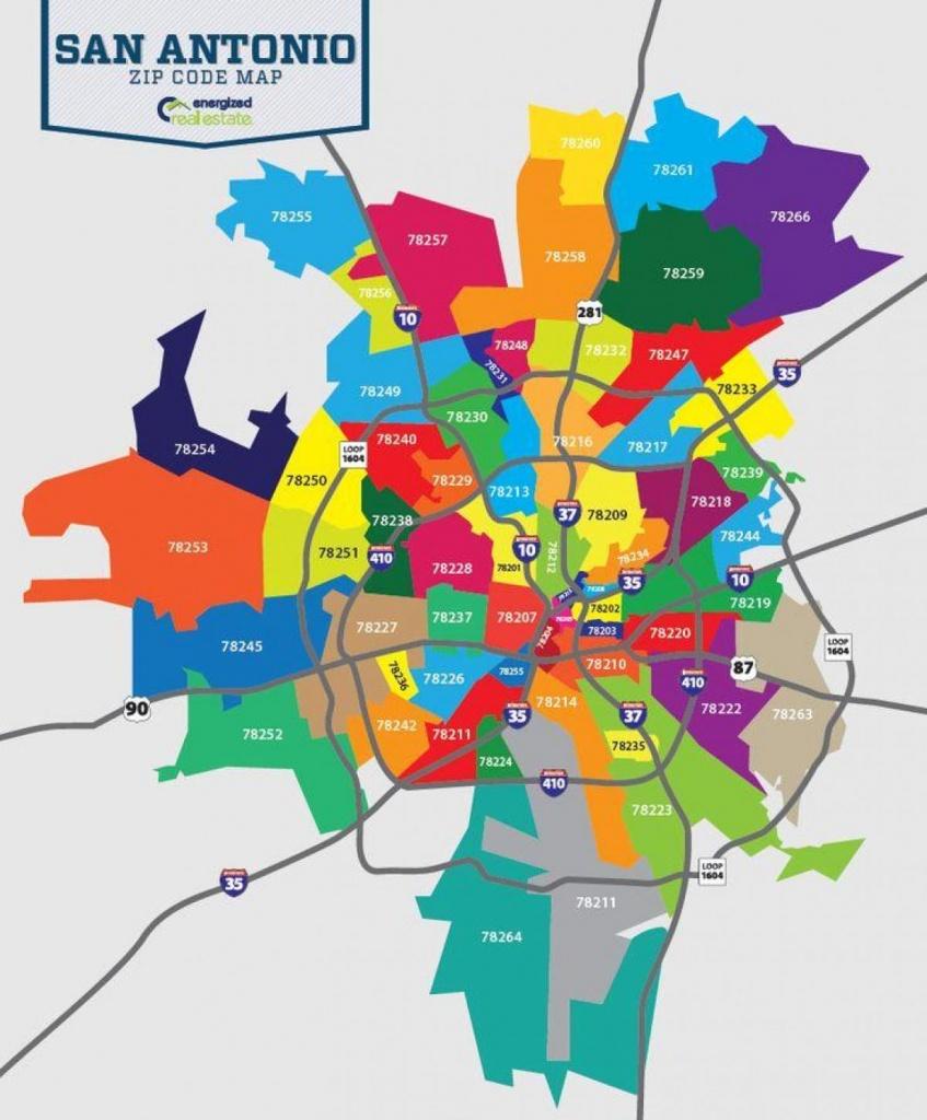 San Antonio Map With Zip Codes - Map Of San Antonio Zip Codes (Texas - Printable Map Of San Antonio