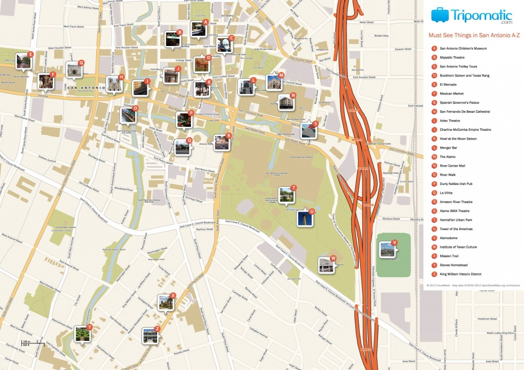 San Antonio Printable Tourist Map | Free Tourist Maps ✈ | Tourist - Printable Map Of San Antonio