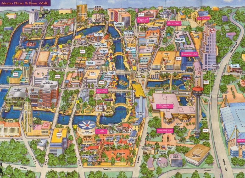 San Antonio River Walk Map | Around San Antonio | San Antonio Texas - Map Of Downtown San Antonio Texas