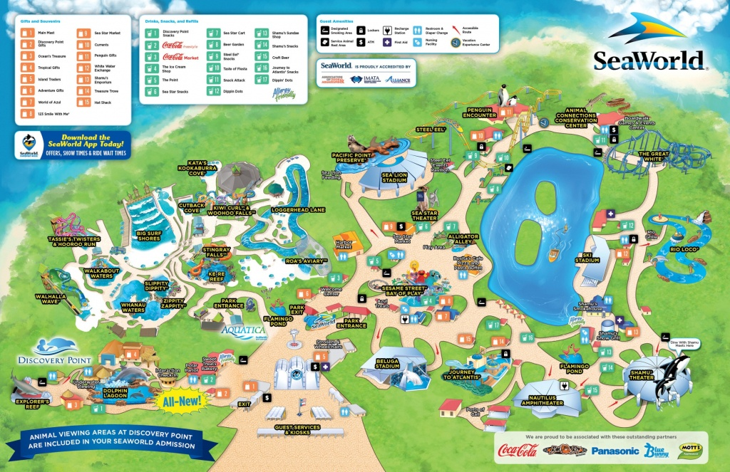 San Antonio Seaworld Map - Printable Sea World Map