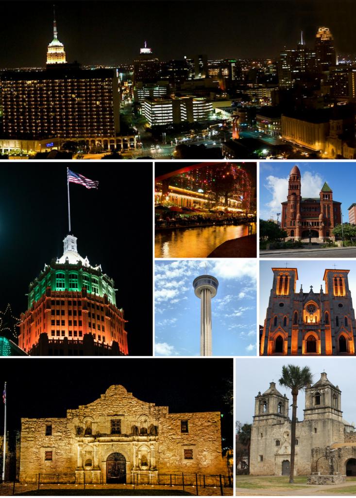 San Antonio - Wikipedia - Map Of The Alamo San Antonio Texas