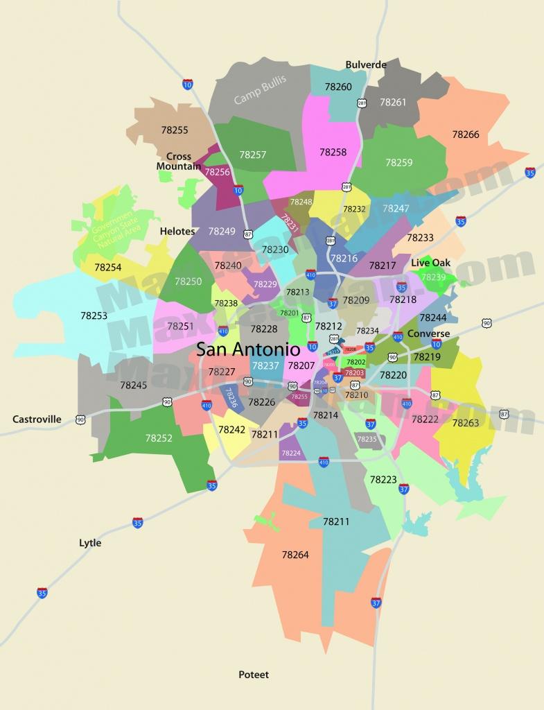 San Antonio Zip Code Map   Mortgage Resources - Texas Zip Code Map
